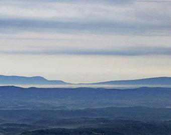Landscape Panorama, Blue Ridge Mountains North Carolina