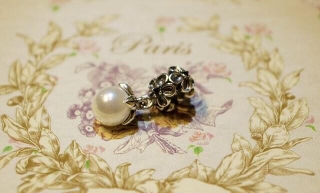 Pandora dangle charm GARGEN ODYSSEY pearl black crystal