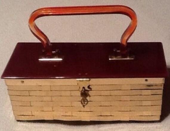 VTG Dorset Rex Fifth Avenue Metal Weave Box Purse