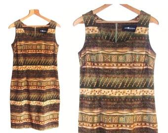 Free shipping 90's sheath dress, vintage sheath dress, sleeveless dress, summer dress, size 6 dress