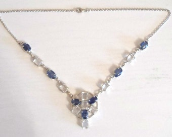 Sale - 925 Sterling SILVER Gem Set Necklace  - Boxed Jewelry Pendant - Ideal Gift / Present