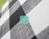 Fabric by the Yard - Premier Prints Cotton - ANDERSON Gingham Picnic Checkers - BLACK - Home Decor Cotton Linen Fabric