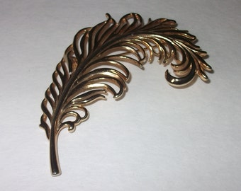 Feather Metal Brooch