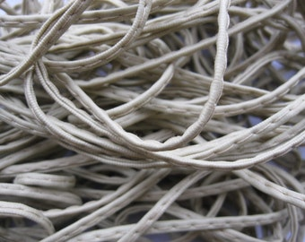 2mm 5meters cream pu leather cords pu leather ropes