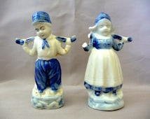 Vintage Blue and White Dutch Figurines