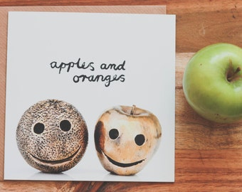 Apples & Oranges Greeting Card