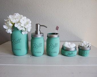 Bathroom Jar Set mason jar love curatedmums make lists on etsy