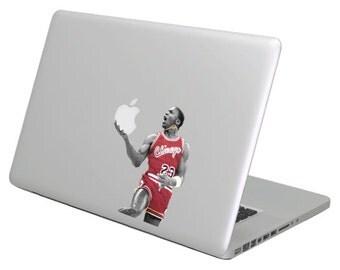 Michael Jordan MacBook Decal sticker. Choose your size. Laptop People Love apple ad commercial