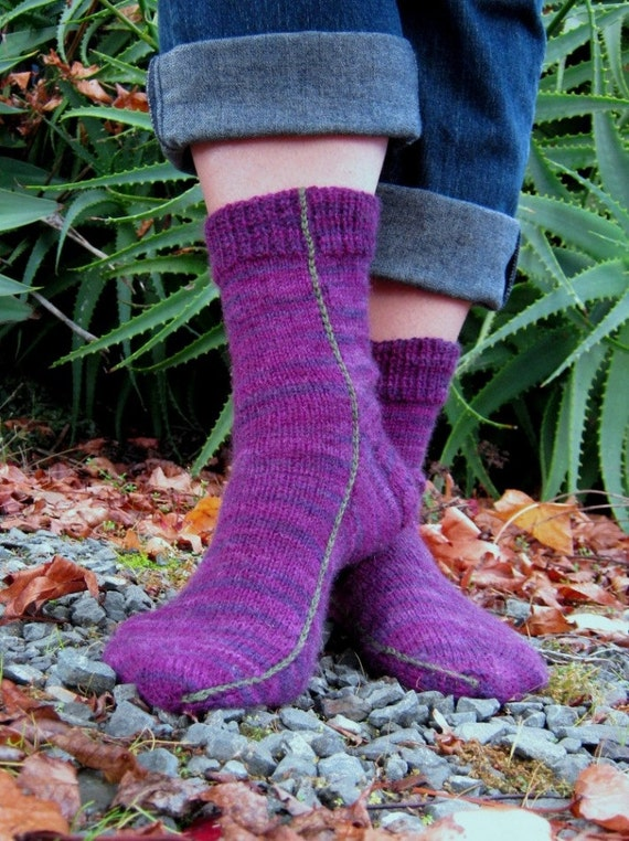 Easy Two Needles Socks PDF pattern only Fine sports weight/