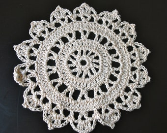 Ivory Crochet Small Doilies- Set of 3