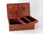 Wooden Jewellery Box - Australian Rare Myrtle Burl - Hand-made Unique Elegant Jewelry Organizer Storage Display & Organisation - B2