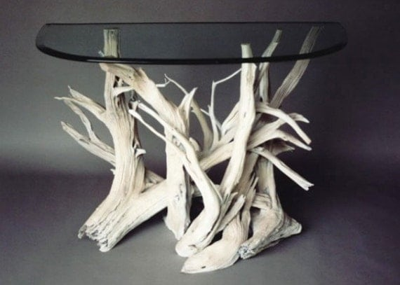 Driftwood buffet table handmade from reclaimed driftwood for Driftwood tables handmade