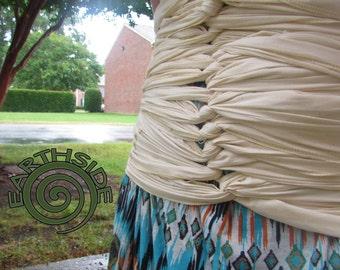 Bengkung Belly Binding: (FreeShip4US) EARTHSIDEBengkung Postpartum Wrap - Natural 100% Cotton  *under wrap doubles as bag