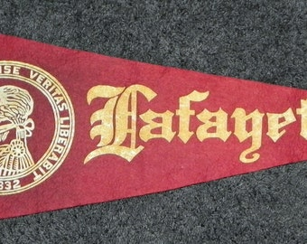 Oversized Circa 1910 Lafayette College Pennant