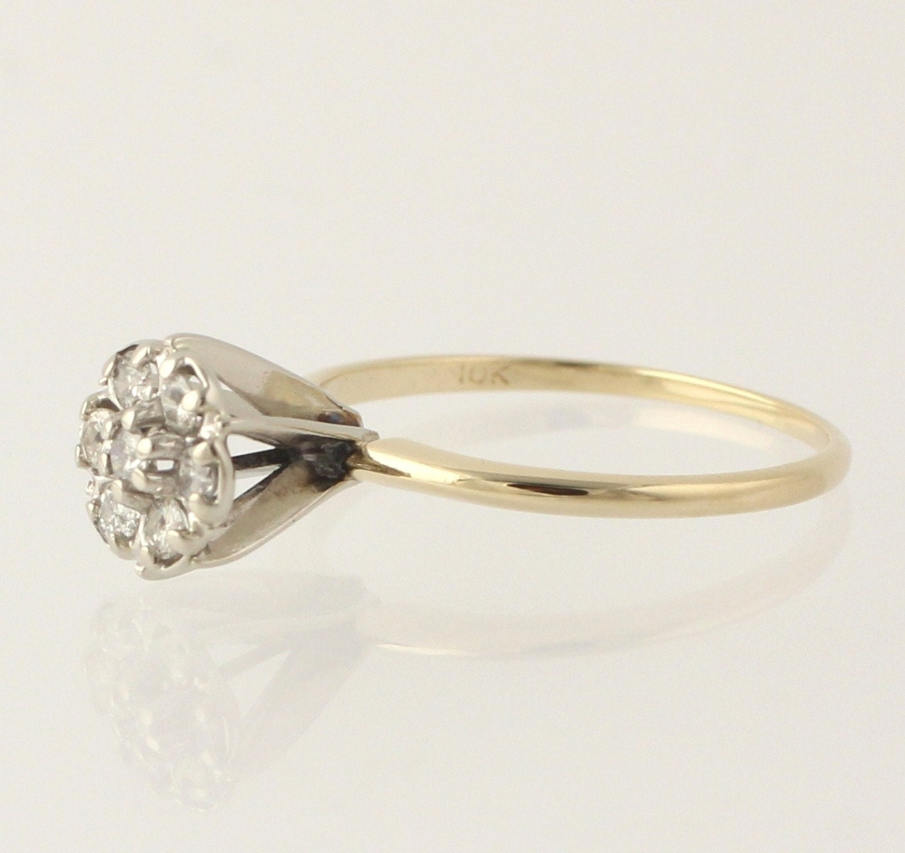 Vintage Antique Diamond Ring Engagement Ring Right Hand Ring