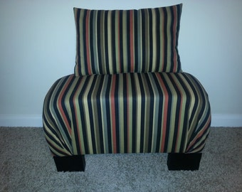 Comfy Ottoman with Matching Accent Pillow -Ready to ship