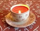 Laura Ashley Wood Wick Teacup Candle With Saucer