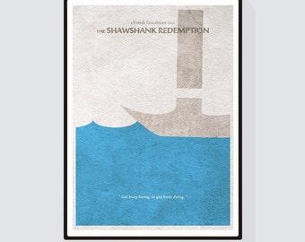 The Shawshank Redemption Minimalist Alternative Movie Print & Poster