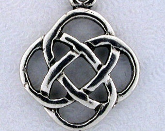 Celtic Knotwork Pendant Sterling Silver Jewelry Celt098