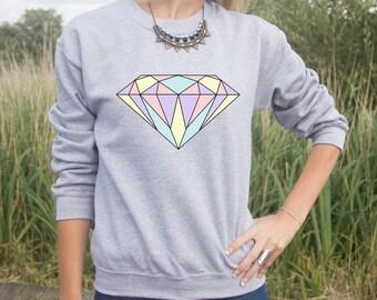 Diamond Jumper Sweater Pastel Fashion Blogger Summer Cute Transparent Grunge