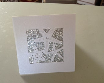 Glittered starfish invtation card