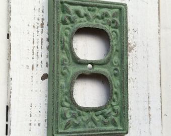CAST IRON OUTLET Cover - Fleur de Lis - 2 3/4 x 4 5/8  - Home Decor