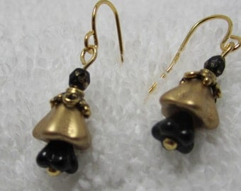 WSU Shocker bellflower earrings