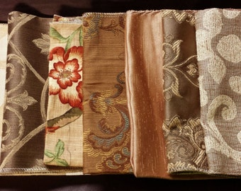 Set of Seven- 17in x 17in Upholstery fabric Squares- 13A
