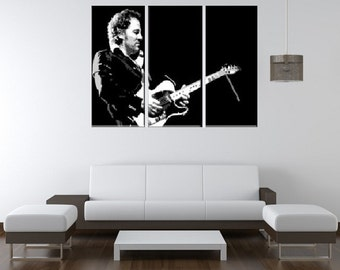BRUCE SPRINGSTEEN Hand Painted Canvas Pop Art Oil Painting L FRAMED - The Boss