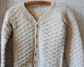 Hand-knitted children's cardigan