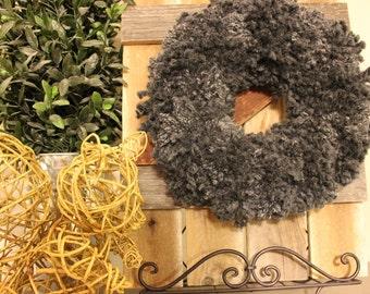 "12"" Custom Yarn Wreath"
