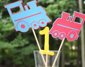 Train Birthday Centerpiece