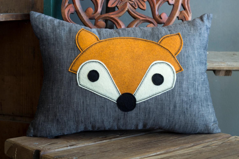 Fox Pillow Fox Decor Home Decor Accent Pillow Lumbar