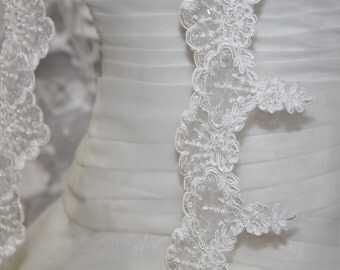 Bridal FINGERTIP veil, bridal lace veil, wedding veil, wedding fingertip veil, bridal fingertip veil