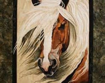 MISTRAL Art Quilt Pattern by Toni Whitney floral raw edge fusible applique horse