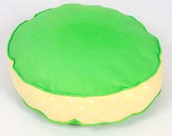 Bon Bon Soft Dog Bed - Green Spot