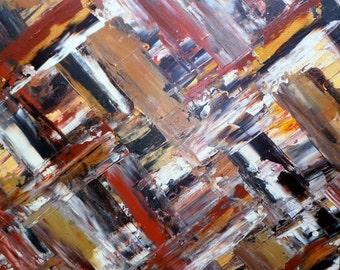 Crystal Gaze - by James Ward - Original Abstract Acrylic Palette Knife Painting