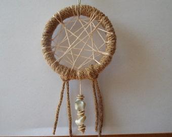 Shell bead Dreamcatcher necklace