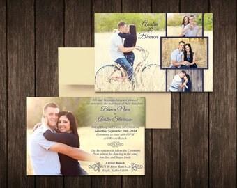 Classic Photo Wedding Invite, Customized, 5x7