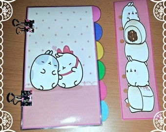 Customizable dividers A5 Personal Organizer Pocket or Molang Style