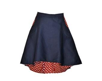 Skirt RED DOTS rock BLUE