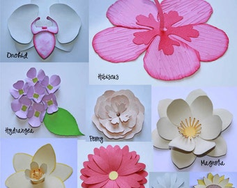 3D Flowers Vector Art SVG Files (with Commercial License)