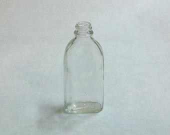Lot of 24 VINTAGE 1960's Brockway Glass Bottles, 2oz. Clear, Temperglas, Screw-top style, NO lids, Craft Bottles