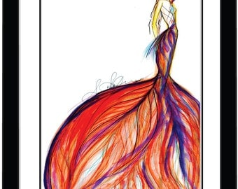 Fashion Wall Art Illustration Painting Figure Drawing Fairy Limited Edition Print Available in a variety of sizes