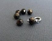 Add a Charm - Pyrite 4.5 mm Gemstone Accent Faceted Rondel