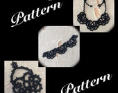 PDF Tatting Pattern - Scallops - Necklace - Bracelet - Earrings