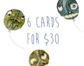 Bulk Discount. You Choose 6 cards for 30 Dollars Au