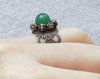 Green Aventurine Adjustable Ring