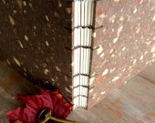 CUSTOM SIZE Wedding Guest Book or Journal - Natural Brown 30 to 70 TORN unlined pages
