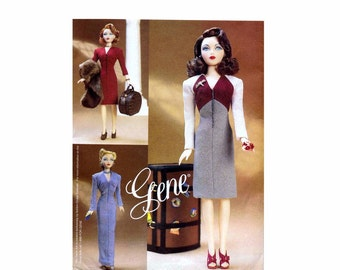 Vogue 7327 Gene Doll Day or Evening Wear Doll Clothes Sewing Pattern UNCUT